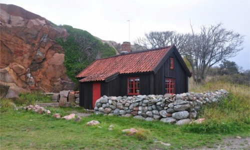 Zdjecie SZWECJA / Szwecja zachodnia / - / Drewniany domek