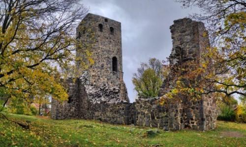 SZWECJA / region Sztokholm / Sigtuna / Ruiny kościoła w Sigtunie
