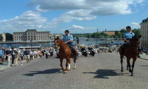 SZWECJA / brak / Sztokholm / Defilada przed Pałacem Królewskim