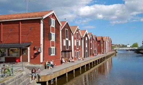 Zdjecie SZWECJA / Halsingland / Hudiksvall / Hudiksvall, port