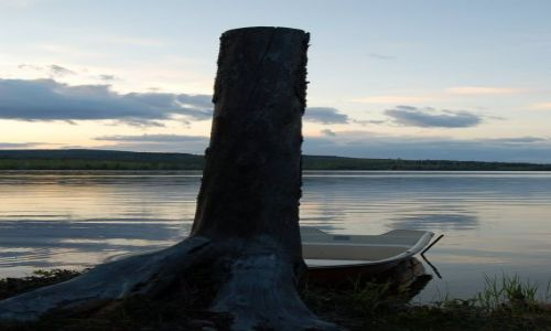Zdjecie SZWECJA / Halsingland / Rengsjo / Nad jeziorem Storsjon