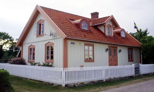 Zdjecie SZWECJA / Blekinge / Kristianopel / Szwedzki domek