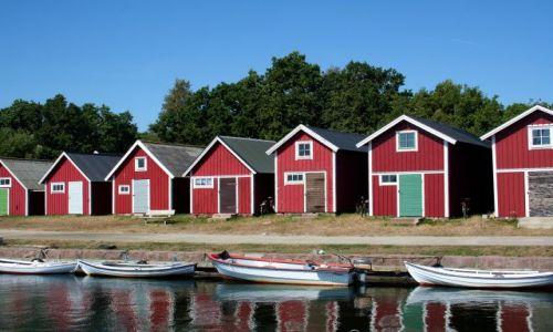 Zdjęcie SZWECJA / Blekinge / Torhamn / Szwedzkie domki