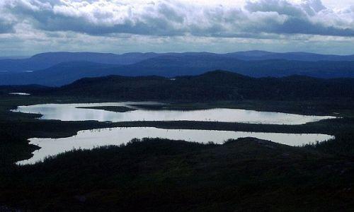 SZWECJA / Lappland / na wschód od Kvikkjokk / kraina gór i jezior