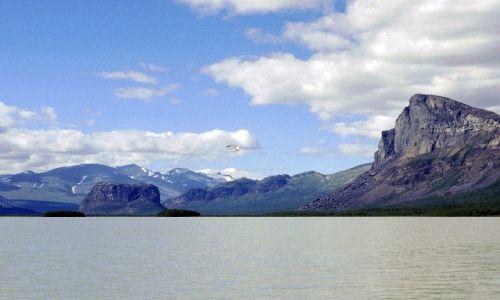 SZWECJA / Lappland / na szlaku / jezioro Laitaure