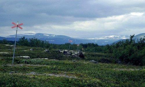SZWECJA / Lappland / Park Narodowy Abisko / szlak zimowy