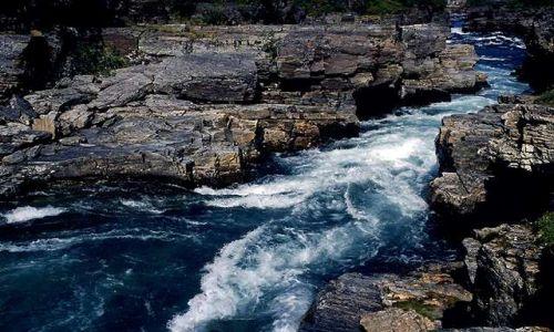 Zdjecie SZWECJA / Lappland / Park Narodowy Abisko / rzeka Abiskojakka