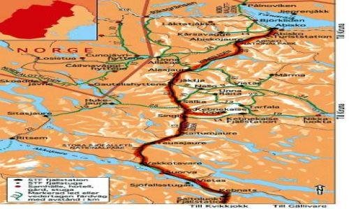 SZWECJA / brak / Kungsleden od Abisko do Kebnats / moja trasa 1