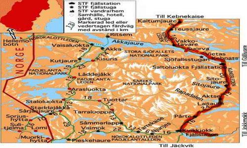 SZWECJA / brak / Kungsleden od Kajtumjaure do Kvikkjokk / moja trasa 2