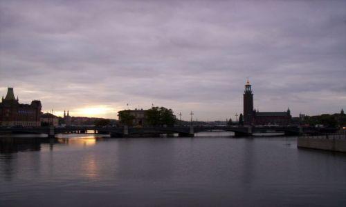 Zdjecie SZWECJA / - / Sztokholm / Zachód słońca nad Sztokholmem