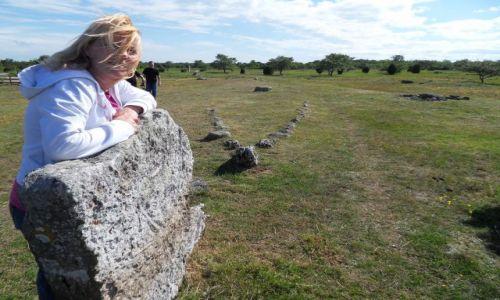 Zdjęcie SZWECJA / Olandia / gdzieś na wyspie / cmentarzysko Wikingów