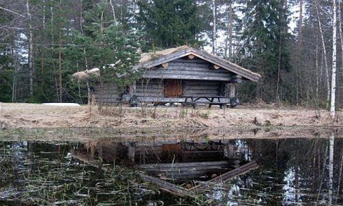 Zdjecie SZWECJA / VASTMANLAND / NORBERG / CHATKA TRAPERA
