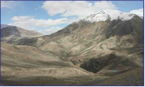 TADŻYKISTAN / Pamir / Z Murgab w kierunku rzeki Pamir (do Langar) / Landszafcik