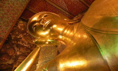TADŻYKISTAN / bangkok / światynia / lężący budda