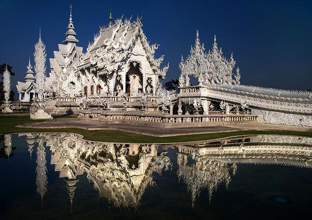 Zdjęcia: Wat Rong Kuhn, Chiang Rai, Biala Swiatynia, TAJLANDIA