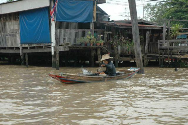 Zdjęcia: Stary Bangkok, Tajlandia, Restauracja na wodzie, TAJLANDIA
