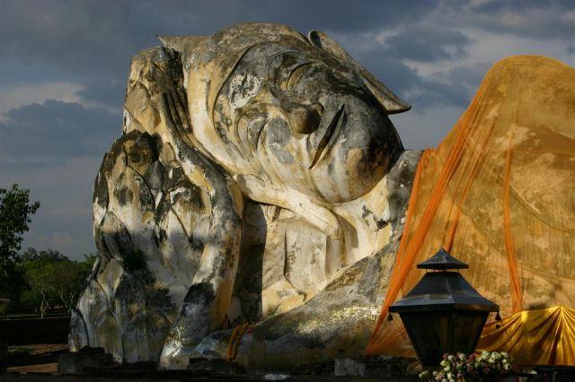 Zdjęcia: Ayuthaya, Leżący Budda, TAJLANDIA