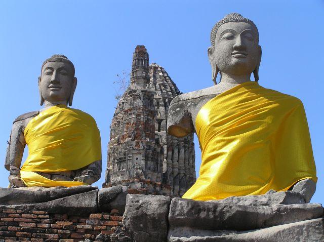 Zdjęcia: Wat Chai Wattanaram, Ajutthaja, budda, TAJLANDIA