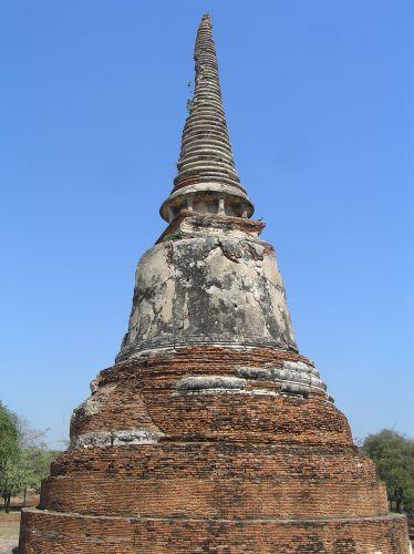 Zdjęcia:  Wat Phra Mahathat, Ajutthaja, stupa, TAJLANDIA