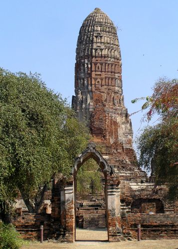 Zdj�cia:  Wat Phra Mahathat, Ajutthaja, stare miasto, TAJLANDIA
