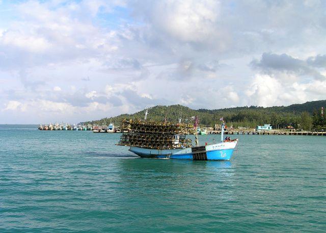 Zdjęcia: Ko Tao, Zatoka Tajlandzka, kuter do połowu homarów, TAJLANDIA