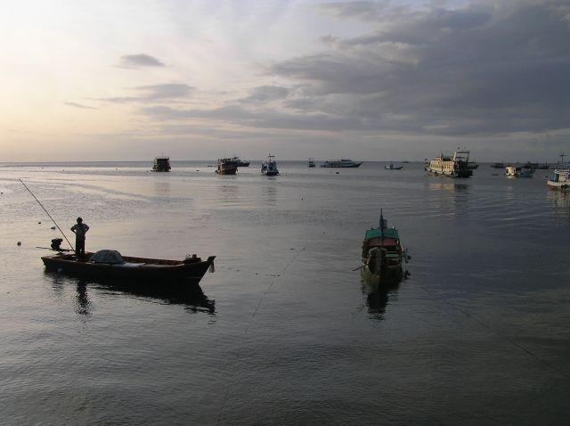 Zdjęcia: Ko Tao, Zatoka Tajlandzka, w porcie, TAJLANDIA