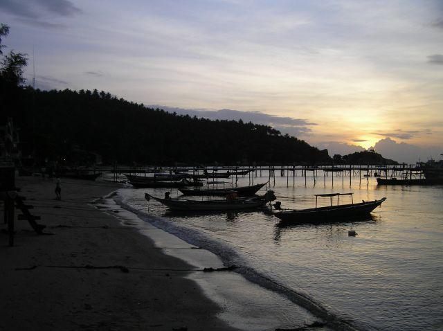 Zdjęcia: Ko Tao, Zatoka Tajlandzka, port, TAJLANDIA