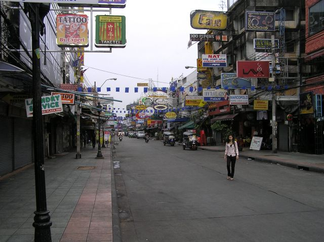 Zdjęcia: rano na Khaosan, Bangkok, poranek w Bangkoku, TAJLANDIA