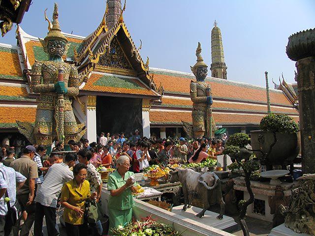 Zdjęcia: Bangkok, Bangkok, w pałacu królewskim, TAJLANDIA