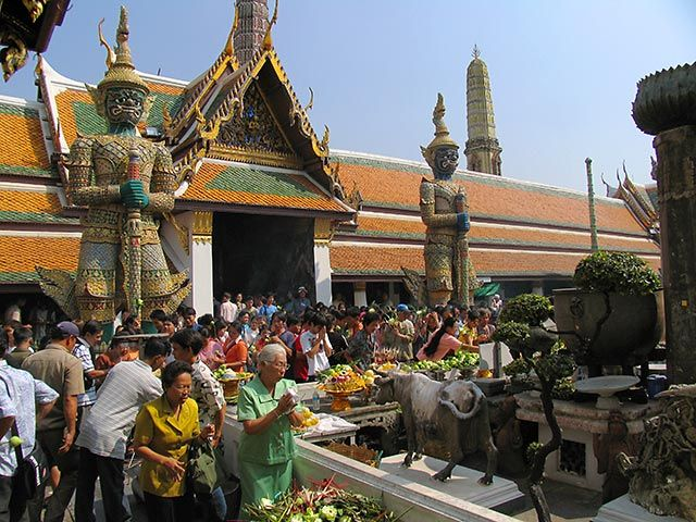 Zdj�cia: Bangkok, Bangkok, w pa�acu kr�lewskim, TAJLANDIA