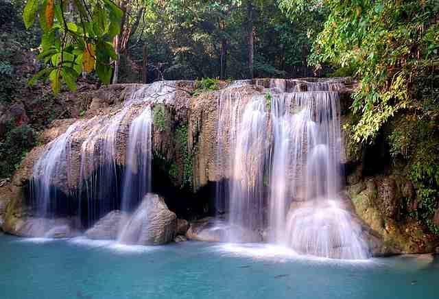 Zdjęcia: Park Narodowy Erawan, Kanchanaburi, Wodospad Erawan, TAJLANDIA