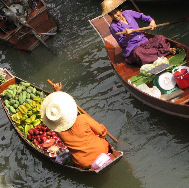 Zdjęcia: BKK, środek, pływajacy targ 2, TAJLANDIA