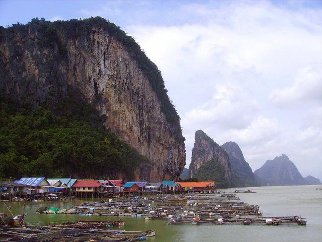 Zdjęcia: Koh Panyee, południowa Tajlandia, pływająca wioska Koh Panyee, TAJLANDIA