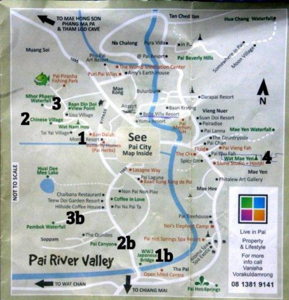 Zdjęcia: Pai, Mapa okolic Pai, TAJLANDIA