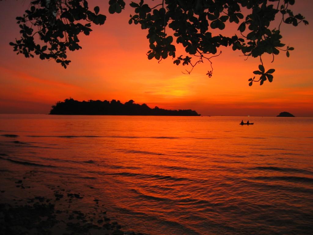 Zdjęcia: Koh Chang, Zachód słońca, TAJLANDIA