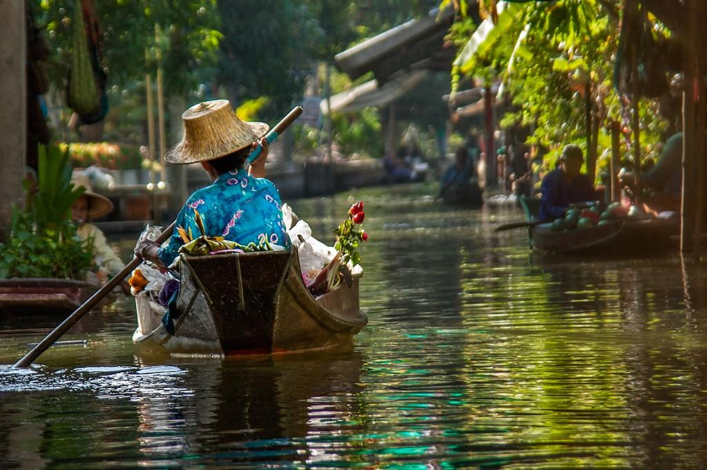 Zdjęcia: Damnoen Saduak, Damnoen Saduak, Floating Market, TAJLANDIA