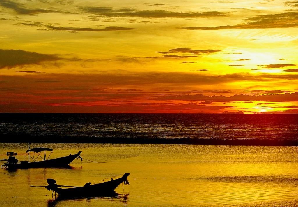 Zdjęcia: Koh Phangan, Koh Phangan, Zachód słońca, TAJLANDIA