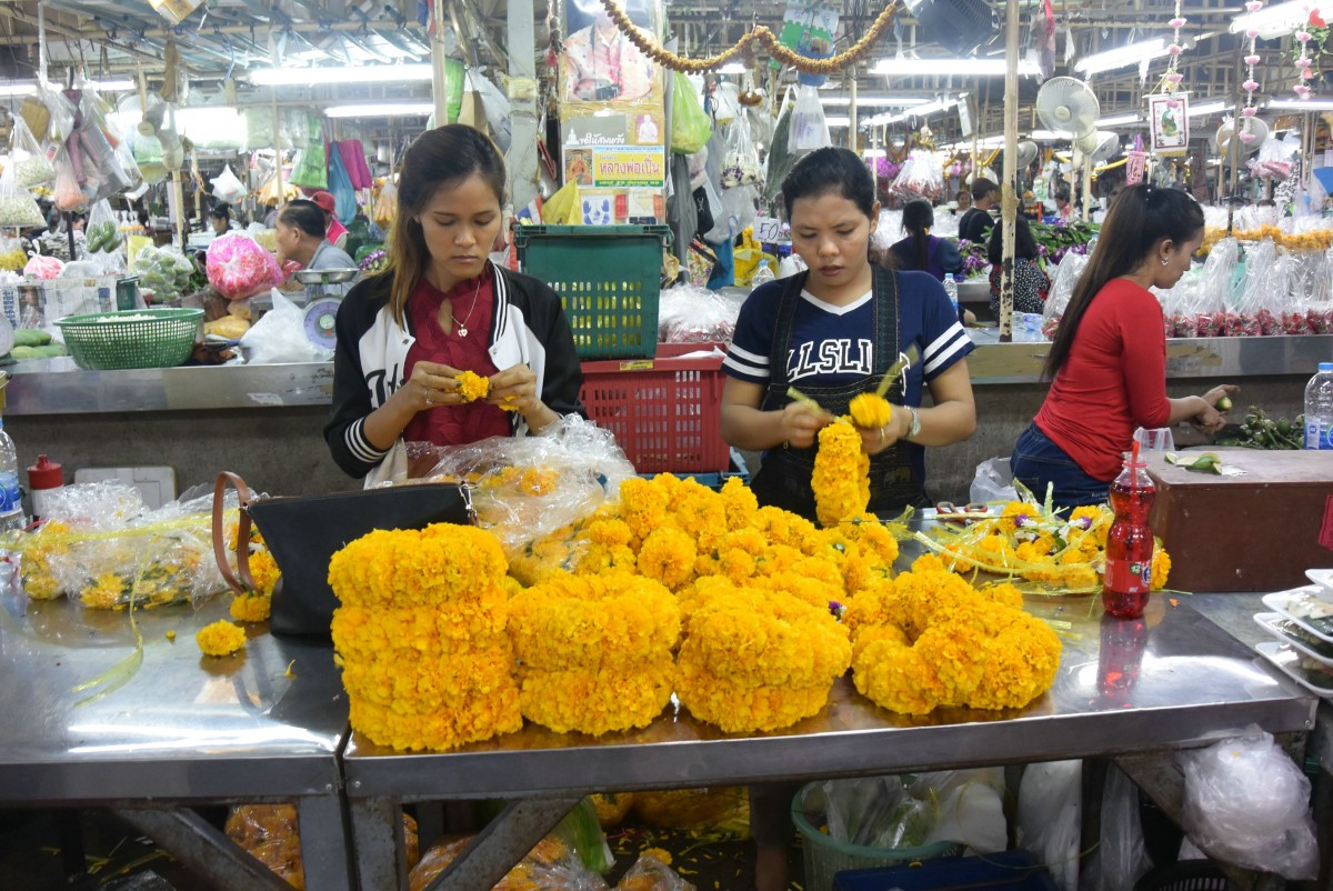 Zdjęcia: Pak Klong Talad- targ kwiatów w Bangkoku, Pak Klong Talad- targ kwiatów w Bangkoku, TAJLANDIA