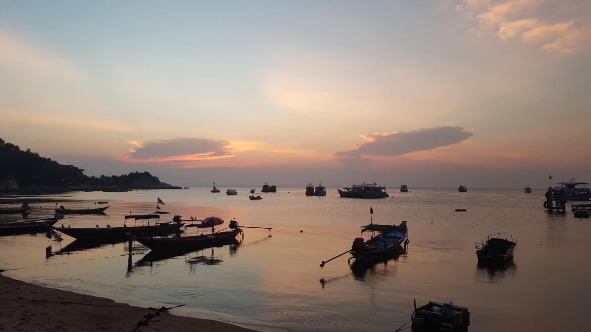 Zdjęcia: Wyspa Kho Tao, Tajski zachód słońca 1, TAJLANDIA