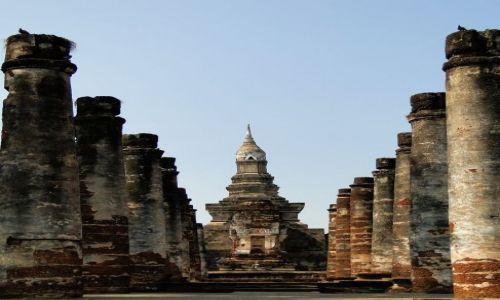Zdjecie TAJLANDIA / - / Wat Mahathat - Sukhotai / Zespół świątynny Parku Historycznego-dawny pałac królewski