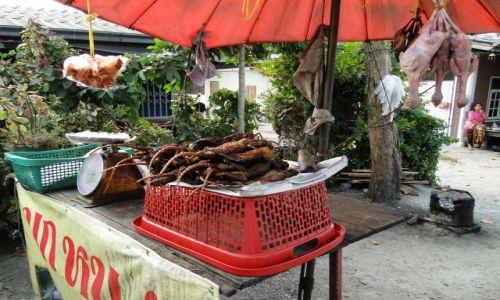 TAJLANDIA / - / Kanchanaburi  / Przydrożny grill dla podróżnych