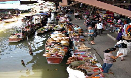 Zdjęcie TAJLANDIA / Bangkok / Damnuen Saduak Floating Market / Pływający targ