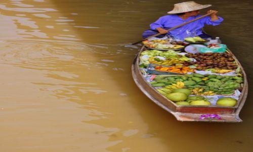 Zdjecie TAJLANDIA / Okolice Banghoku / Targ wodny / Płynność gotówki ...