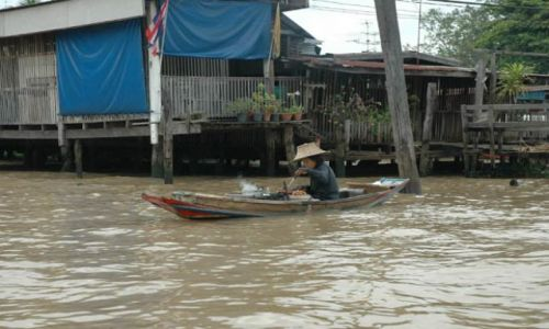 Zdjecie TAJLANDIA / Tajlandia / Stary Bangkok / Restauracja na wodzie