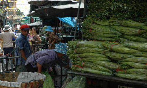 Zdjecie TAJLANDIA / Tajlandia / Bangkok - China town / Targ warzywny