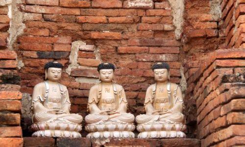 Zdjecie TAJLANDIA / Ayutthaya / Ayutthaya / Święci