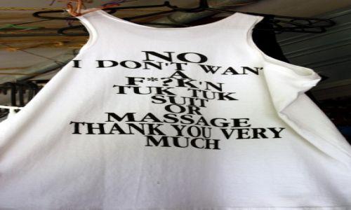 TAJLANDIA / Południe / Koh Phi Phi Don / Z taka koszulką MAJFRENDSI nie straszni;)