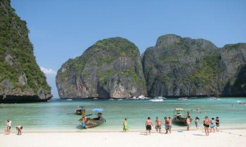Zdjecie TAJLANDIA / Phuket / Maya Bay / Niebiańska plaża