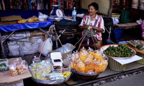 TAJLANDIA / Samut Songkhram / Samut Songkhram / Maeklong Railway Market