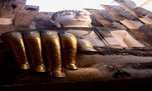 Zdjecie TAJLANDIA / Tailandia / Sukhothai / Budda rozpraszający strach